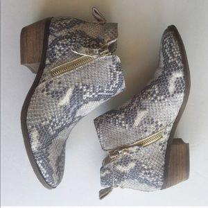 Vince Camuto Tricera bootie snakeskin